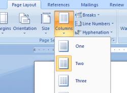 نوشتن دو ستونی و سه ستونی در ورد