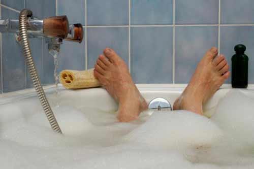 درمان اگزمای پوستی با حمام آب گرم